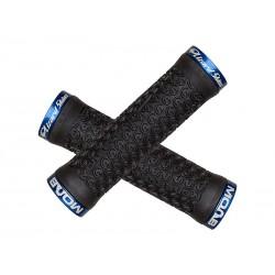 Chwyty kierownicy LIZARDSKINS MOAB LOCK-ON klamry niebieskie 130mm czarne