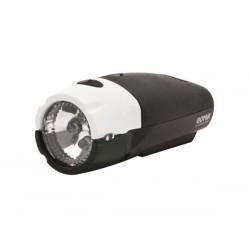 Lampka przednia SPANNINGA GOMA XB + baterie czarno-biała