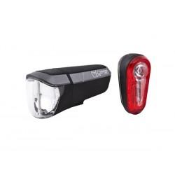 Zestaw lampki SPANNINGA ZIRCON SET przód tył flash