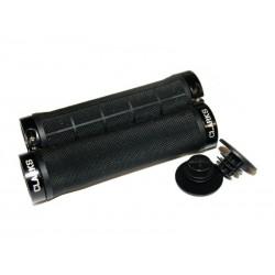 Chwyty kierownicy CLARK'S CL-G309 LOCK-ON czarne, klamry czarne