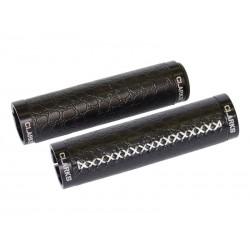 Chwyty kierownicy CLARK'S CLO220 LOCK-ON czarne, klamry czarne