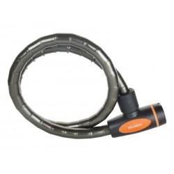 Zapięcie rowerowe MASTERLOCK QUANTUM 8228 18mm 100cm KLUCZYK czarne