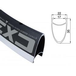 Obręcz szosa ALEXRIMS CX35 700x28otw. czarna