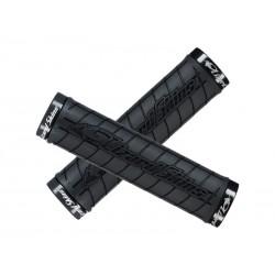 Chwyty kierownicy LIZARDSKINS LOGO LOCK ON klamry czarne 130mm czarne