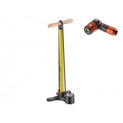 Pompka podłogowa LEZYNE SPORT FLOOR DRIVE ABS2 220psi żółta