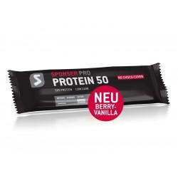 Baton proteinowy SPONSER PROTEIN 50 BAR jagoda wanilia pudełko 25 szt x 50g
