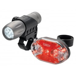Zestaw lampki TORCH CYCLE LIGHT SET HIGH BEAMER TACTICAL 9 + TAIL BRIGHT 9X