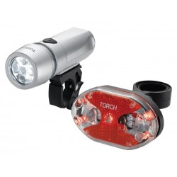 Zestaw lampki TORCH CYCLE LIGHT SET HIGH BEAMER WHITE 5X + TAIL BRIGHT 5X
