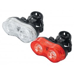 Zestaw lampki TORCH CYCLE LIGHT SET WHITE BRIGHT DUO + TAIL BRIGHT DUO