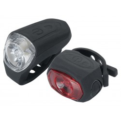Zestaw lampki TORCH USB CYCLE LIGHT SET HIGH BEAMER 0.5W USB + TAIL BRIGHT 0.5W USB +kabel usb