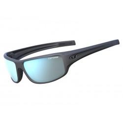 Okulary TIFOSI BRONX matte gunmetal 1szkło Smoke Bright Blue 11,2 transmisja światła