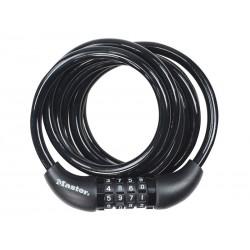 Zapięcie rowerowe MASTERLOCK QUANTUM 8221 8mm 180cm SZYFR czarne