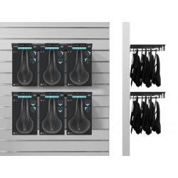 Display SELLEROYAL SCIENTIA FLEX KIT ATHLETIC metalowe haczyki + zestaw 6 siodeł