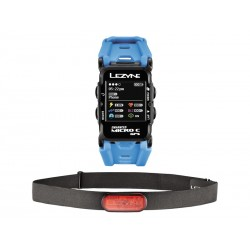 Komputer rowerowy LEZYNE GPS Watch Color HR, cyan