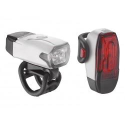 Zestaw lampki LEZYNE LED KTV DRIVE przód, tył, usb białe