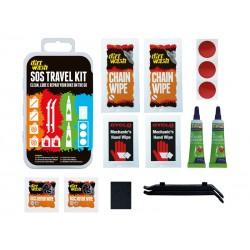 Zestaw czyszcząco-naprawczy WELDTITE DIRTWASH SOS TRAVEL KIT 3x łatki samoprzylepne + 2x łyżki +