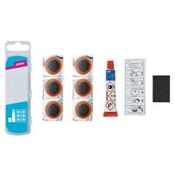 Łatki do dętek zestaw WELDTITE AIRTITE OWN LABEL PUNCTURE REPAIR KIT 6x łatki pudełko 25szt.