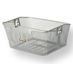 Kosz na tylny bagażnik BASIL CAPRI Bottom hooks, stalowy srebrny