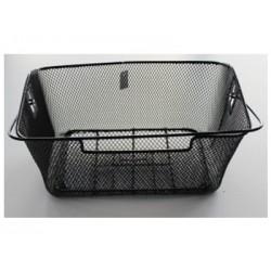 Kosz na tylny bagażnik BASIL BASKET-2 Bottom hooks, stalowy czarny