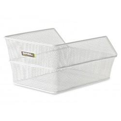 Kosz na tylny bagażnik BASIL CENTO S Mounting set for CENTO basket, stalowy biały