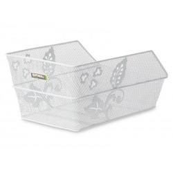 Kosz na tylny bagażnik BASIL CENTO FLOWER Mounting set for CENTO basket, stalowy biały
