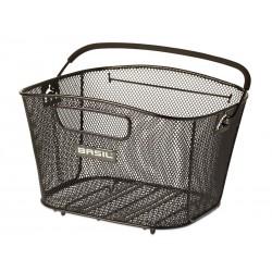 Kosz na tylny bagażnik BASIL BOLD M Clever system, stalowy czarny