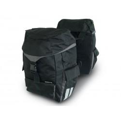 Sakwa turystyczna podwójna BASIL SPORT DOUBLE BAG 38L, mocowanie na paski, wodoodporny poliester,