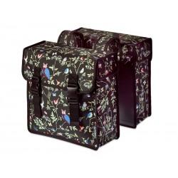 Sakwa miejska podwójna BASIL WANDERLUST DOUBLE BAG 35L, mocowanie na paski, wodoodporny poliester,