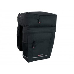 Sakwa turystyczna FASTRIDER ACIDUS DOUBLE REAR BAG 5 VAKS 45L czarno-grafitowa