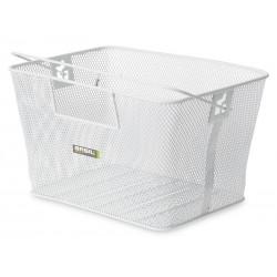 Kosz na tylny bagażnik BASIL CONCORD XL FLEX Bottom hooks, stalowy biały
