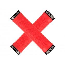 Chwyty kierownicy LIZARDSKINS MOAB LOCK-ON klamry niebieskie 130mm czerwone NEW