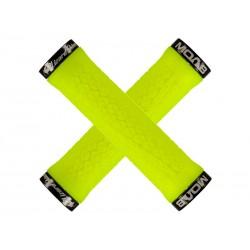 Chwyty kierownicy LIZARDSKINS MOAB LOCK-ON klamry niebieskie 130mm żółte neon NEW