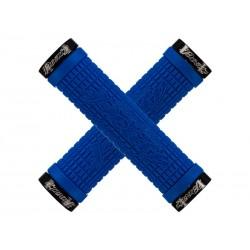 Chwyty kierownicy LIZARDSKINS PEATY CHEERS LOCK-ON klamry 130mm electric blue niebieskie NEW