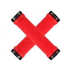 Chwyty kierownicy LIZARDSKINS PEATY CHEERS LOCK-ON klamry 130mm fire red czerwone NEW