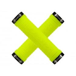 Chwyty kierownicy LIZARDSKINS PEATY CHEERS LOCK-ON klamry 130mm żółte neon NEW