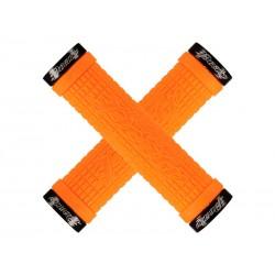 Chwyty kierownicy LIZARDSKINS PEATY CHEERS LOCK-ON klamry 130mm manadrynka pomarańczowe NEW