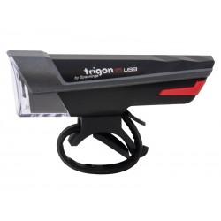 Lampka przednia SPANNINGA TRIGON 15 usb czarna