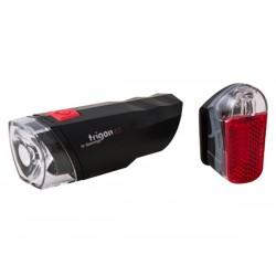 Zestaw lampki SPANNINGA TRIGON 10 SET przód tył + baterie