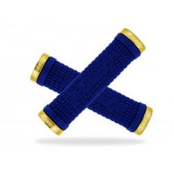Chwyty kierownicy LIZARDSKINS PEATY CHEERS LOCK-ON klamry 130mm niebieskie NEW