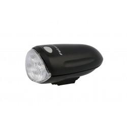 Lampka przednia FUTURA 4LEDMAX + baterie czarna