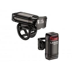 Zestaw lampki LEZYNE LED KTV DRIVE PRO przód 80 lumenów, tył 7 lumenów, usb czarne