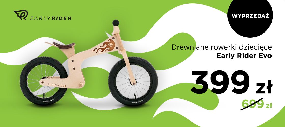 Drewniane rowerki dziecięce Warly Rider Evo